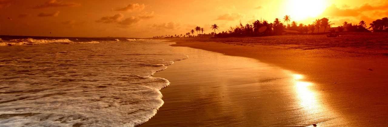 Nas praias