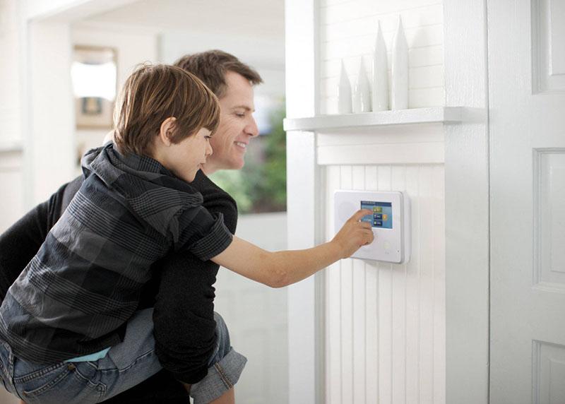 Alarme residencial com sensor de presença