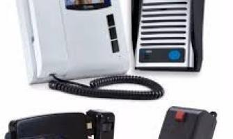 Instalação de interfone com câmera